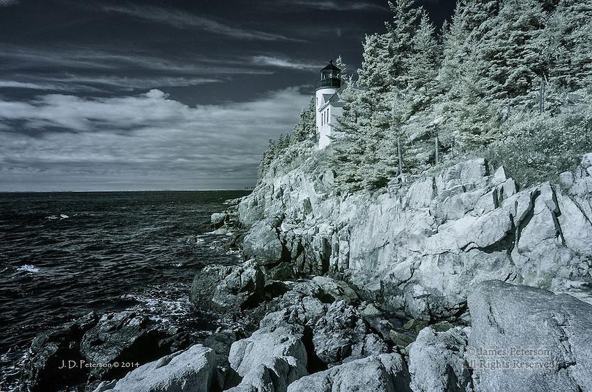 The Bass Harbor Light, Maine (Infrared)