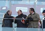 LINO BANFI CON IL FIGLIO WALTER E CARLO VERDONE<br /> ROMA- BOLOGNA STADIO OLIMPICO ROMA 2015