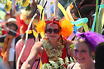 Summer Solstice Parade on Orcas Island, Washington.