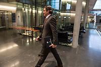 In der Sitzung des Verkehrsausschuss des Deutschen Bundestag, am Freitag den 15 November 2019 sollte Verkehrsminister Andreas Scheuer, CSU, (im Bild) dem Ausschuss die Situation bei der Deutschen Bahn erklaeren.<br /> 15.11.2019, Berlin<br /> Copyright: Christian-Ditsch.de<br /> [Inhaltsveraendernde Manipulation des Fotos nur nach ausdruecklicher Genehmigung des Fotografen. Vereinbarungen ueber Abtretung von Persoenlichkeitsrechten/Model Release der abgebildeten Person/Personen liegen nicht vor. NO MODEL RELEASE! Nur fuer Redaktionelle Zwecke. Don't publish without copyright Christian-Ditsch.de, Veroeffentlichung nur mit Fotografennennung, sowie gegen Honorar, MwSt. und Beleg. Konto: I N G - D i B a, IBAN DE58500105175400192269, BIC INGDDEFFXXX, Kontakt: post@christian-ditsch.de<br /> Bei der Bearbeitung der Dateiinformationen darf die Urheberkennzeichnung in den EXIF- und  IPTC-Daten nicht entfernt werden, diese sind in digitalen Medien nach §95c UrhG rechtlich geschuetzt. Der Urhebervermerk wird gemaess §13 UrhG verlangt.]