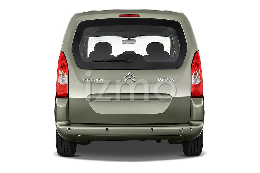 Straight rear view of a 2008 - 2014 Citroen BERLINGO Multispace 5-Door Mini Mpv 2WD