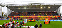 20191102 – Lens , France : Lens Supporters and fans in tribune Marek pictured with a Tifo during a French Ligue 2 soccer game between Racing Club de Lens and FC Lorient , a football game on the 13th matchday in the French second league, on saturday 2 nd of November 2019 at the Stade Bollaert Delelis in Lens , France . PHOTO SPORTPIX.BE | DAVID CATRY