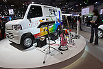 """December 30, 2011, Tokyo, Japan - Mitsubishi Motor Corp.'s """"MINICAB-MiEV"""" electric vehicle is displayed at the 42nd Tokyo Motor Show. The show opens to the general public from December 3-11. (Photo by Christopher Jue/AFLO)"""