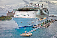Allure of the Seas at dock in Nassau in the Bahamas.