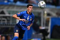 8th September 2021; Mapei Stadium, Città del Tricolore, Reggio Emilia, Italy: FIFA World Cup 2022 qualification, Italy versus Lithuania:  Matteo Pessina clears with a header