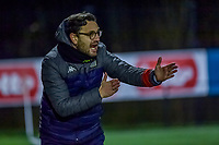 Charleroi head coach Philippe Venturoso pictured during a female soccer game between Sporting Charleroi and KRC Genk Ladies on the 9th matchday of the 2020 - 2021 season of Belgian Scooore Womens Super League , friday 11 th of December 2020  in Marcinelle , Belgium . PHOTO SPORTPIX.BE | SPP | STIJN AUDOOREN