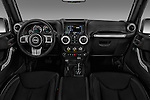 Stock photo of straight dashboard view of 2017 JEEP Wrangler-Unlimited Rubicon-Hard-Rock 5 Door SUV Dashboard