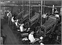 Linotype operators of the Chicago Defender by Jack Delano, 1941 (LOC)