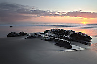 Rocks on the beach at Jalama county park, Lompoc, California, Santa Barbara