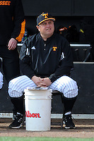 Tennessee Volunteers head coach Dave Serrano during a game against  the Arizona State Sun Devils at Lindsey Nelson Stadium on February 23, 2013 in Knoxville, Tennessee. The Volunteers won 11-2.(Tony Farlow/Four Seam Images).