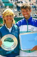 1988, Paris , Roland Garros, Brenda Schultz and Michiel Schapers finalists in the mixed