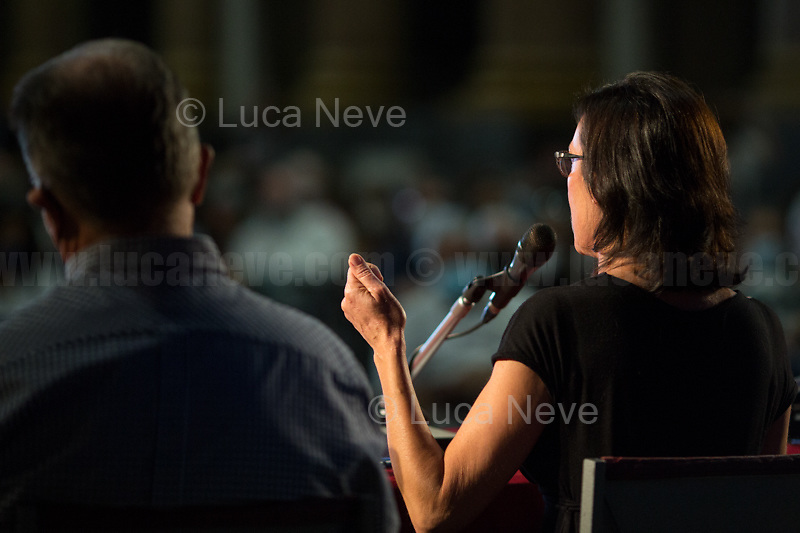 """Ilaria Cucchi & Fabio Anselmo. <br /> <br /> Genova'01 Twenty Years After, Another World Is Necessary's Conference: """"The Protection Of The Inviolable Rights Of Those Subject To The Restriction Of The Personal Freedom: Truth And Justice For Emanuel Scalabrin"""" [Person who died in Carabinieri's (police) custody in the North of Italy on the 4th December 2020, ndr, 4.] (5.) - Speakers of the event, amongst others, were: the Aunt of Emanuel Scalabrin; Gabriella Branca, lawyer of Scalabrin's Family; Ilaria Cucchi, Sister of Stefano Cucchi, beaten to death while in police custody in Rome in 2009 (6.); Fabio Anselmo, Lawyer of Cucchi's Family.<br /> <br /> Genoa, Italy. 19, 20, 21 July 2021. Twenty years after the dramatic and terrifying events related to the 2001 Genoa's G8 meeting, according to Amnesty International: """"the most serious suspension of democratic rights in a Western country since the Second World War"""" (1.) and as stated on the 2001 """"Report on the situation of fundamental rights in the EU"""" the European Parliament """"deplores the suspensions of fundamental rights that took place during public demos, and in particular at the G8 meeting in Genoa, such as freedom of expression, freedom of movement, the right to physical integrity"""" (2.). As a reminder, the City of Genoa is State Gold Medal (Medaglia D'Oro) for its Antifascist Resistance in World War II.<br /> Some photos, part of this story, are presented appositely in Black & White to show to the audience """"the Places"""" where the majority of - the already mentioned (see above) - """"suspensions of fundamental rights […] such as freedom of expression, freedom of movement, the right to physical integrity"""" (2.) happened.<br /> In these three days, throughout a series of events, Genoa and its People, survivors and witnesses, experts and activists, remembered what happened 20 years...<br /> <br /> FULL CAPTION & LINKS AT THE BEGINNING OF THIS STORY.<br /> <br /> Footnotes, Links:<br /> 3. http://bit.do/fRvdj<br /> 4. http://bi"""