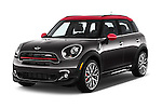 2015 MINI Countryman John Cooper Works 5 Door Hatchback Angular Front stock photos of front three quarter view
