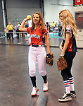 Maria Menounos & Marisa Miller at the MLB All Star Fanfest Batting Practice held at The Anaheim Convention Center , the precursor to The All Star Legends Celebrity Softball game in Anaheim, California on July 11,2010                                                                               © 2010 Debbie VanStory / Hollywood Press Agency