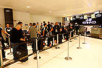 Photo: Richard Lane/Richard Lane Photography. London Wasps in Abu Dhabi for their LV= Cup game against Harlequins on 30th January 2011. 01/02/2011. Wasps' airport check in.