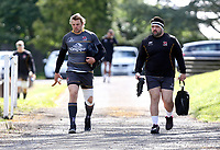 Tuesday 3rd May; Jordi Murphy and Marty Moore<br /> Ulster Rugby Training at Perrie Park, Belfast, Northern Ireland. Photo by John Dickson/Dicksondigital