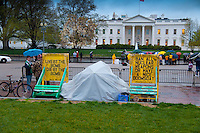 Nuclear weapons protest in front of the White House