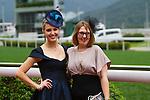 SHA TIN,HONG KONG-APRIL 24: 2 wonderful ladies at Sha Tin Racecourse on April 24,2016 in Sha Tin,New Territories,Hong Kong (Photo by Kaz Ishida/Eclipse Sportswire/Getty Images)