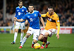 Motherwell v St Johnstone…20.10.18…   Fir Park    SPFL<br />Tony Watt and Tom Aldred<br />Picture by Graeme Hart. <br />Copyright Perthshire Picture Agency<br />Tel: 01738 623350  Mobile: 07990 594431
