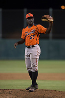 AZL Giants Orange relief pitcher Chris Roberts (85) during an Arizona League game against the AZL Athletics at Lew Wolff Training Complex on June 25, 2018 in Mesa, Arizona. AZL Giants Orange defeated the AZL Athletics 7-5. (Zachary Lucy/Four Seam Images)