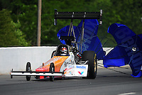 May 5, 2012; Commerce, GA, USA: NHRA top fuel dragster driver Clay Millican during qualifying for the Southern Nationals at Atlanta Dragway. Mandatory Credit: Mark J. Rebilas-