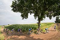 head of the race over gravel roads<br /> <br /> Dwars door het Hageland (1.1)<br /> 1 Day Race: Aarschot > Diest (194km)