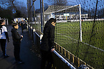 Atherton Collieries 1, Boston United 0, 23/11/19. Alder House, FA Trophy, third qualifying round. Young h supporters watching the second-half action as Atherton Collieries played Boston United in the FA Trophy third qualifying round at the Skuna Stadium. The home club were formed in 1916 and having secured three promotions in five season played in the Northern Premier League premier division. This was the furthest they had progressed in the FA Trophy and defeated their rivals from the National League North by 1-0, Mike Brewster scoring a late winner watched by a crowd of 303 spectators. Photo by Colin McPherson.
