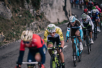 Tony Gallopin (FRA/AG2R-LaMondiale) in the mix<br /> <br /> 76th Paris-Nice 2018<br /> stage 6: Sisteron > Vence (198km)