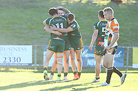 The Wyong Roos play The Entrance Tigers in Round 13 of the First Grade Central Coast Rugby League Division at Morry Breen Oval on 14th of July, 2019 in Kanwal, NSW Australia. (Photo by Paul Barkley/LookPro)
