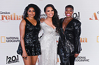 """PASADENA, CA - JUNE 10: Rebecca Naomi Jones, Antonique Smith and Patrice Covington attend National Geographic's """"Genius: Aretha"""" FYC Drive-In Screening And Panel at the Rose Bowl on June 10, 2021 in Pasadena, California. (Photo by Vince Bucci/National Geographic/PictureGroup)"""