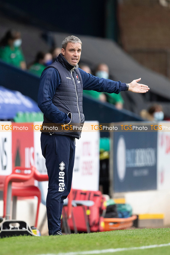 Michael Duff, Manager, Cheltenham Town during Southend United vs Cheltenham Town, Sky Bet EFL League 2 Football at Roots Hall on 17th October 2020