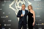 "Roberto Brasero and Sandra Golpe attend ""Iris Academia de Television' awards at Nuevo Teatro Alcala, Madrid, Spain. <br /> November 18, 2019. <br /> (ALTERPHOTOS/David Jar)"