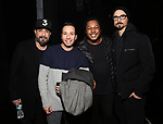 """from the Backstreet Boys backstage with the cast of  """"Avenue Q""""  at the New World Stages on January 27, 2019 in New York City."""
