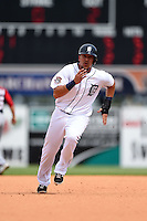 Detroit Tigers infielder Hernan Perez (26) during a Spring Training game against the Washington Nationals on March 22, 2015 at Joker Marchant Stadium in Lakeland, Florida.  The game ended in a 7-7 tie.  (Mike Janes/Four Seam Images)