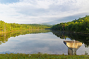 View of the Baker Floodwater Reservoir Site from Hildreth Dam in Warren, New Hampshire USA during the summer months.