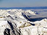 CHE, Schweiz, Kanton Bern, Berner Oberland, Grindelwald: Blick vom Jungfraujoch ueber die Berner Alpen   CHE, Switzerland, Bern Canton, Bernese Oberland, Grindelwald: view from Jungfraujoch across Bernese Alps