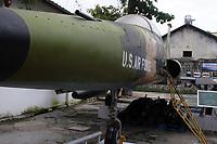 Ho Chi Minh city<br /> , Vietnam - 2007 File Photo -<br /> <br /> <br /> Captured US Army plane on display at war museum.  <br /> <br /> <br /> photo : James Wong-  Images Distribution