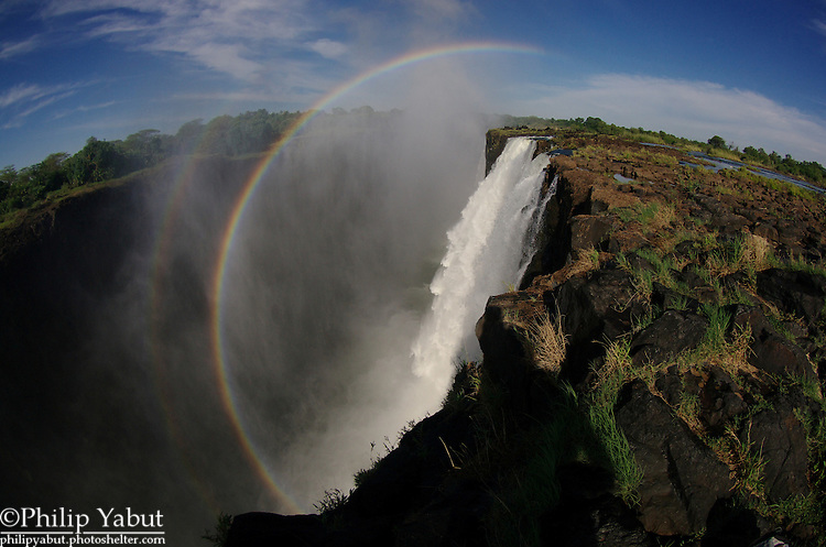 Some of the best views of Victoria Falls are on Livingstone Island, which, if you're looking in from the Zimbabwe side, is just to the right of the Main Falls.