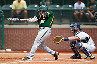 Baylor Bears catcher Josh Ludy #30 swings during the NCAA Regional baseball game against Oral Roberts University on June 3, 2012 at Baylor Ball Park in Waco, Texas. Baylor defeated Oral Roberts 5-2. (Andrew Woolley/Four Seam Images)