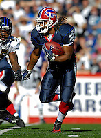 21 October 2007: Buffalo Bills running back Marshawn Lynch in action against the Baltimore Ravens at Ralph Wilson Stadium in Orchard Park, NY. Lynch recorded 98 yards of offense as the Bills defeated the Ravens 19-14 in front of 70,727 fans marking their second win of the 2007 season...Mandatory Photo Credit: Ed Wolfstein Photo