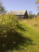 Mowed path towards old barn<br />