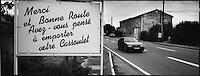 Europe/France/Languedoc-Roussillon/11/Aude/Avignonnet: Panneau à la sortie du village