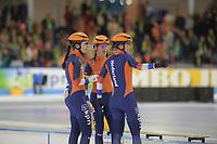 SPEEDSKATING: HEERENVEEN: 10-01- 2020, IJsstadion Thialf, European Championship distances, Team Sprint Ladies, Letitia de Jong, Femke Kok, Ireen Wüst, Team NED, ©foto Martin de Jong