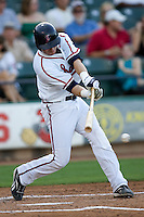 Manzella, Tommy 3415 (Andrew Woolley).jpg.  PCL baseball featuring the Oklahoma City Redhawks at Round Rock Express (in throwback Austin Senators uniforms) at Dell Diamond on July 17th 2009 in Round Rock, Texas. Photo by Andrew Woolley.