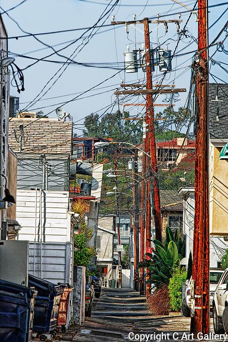 Back Alleyway, Balboa, CA