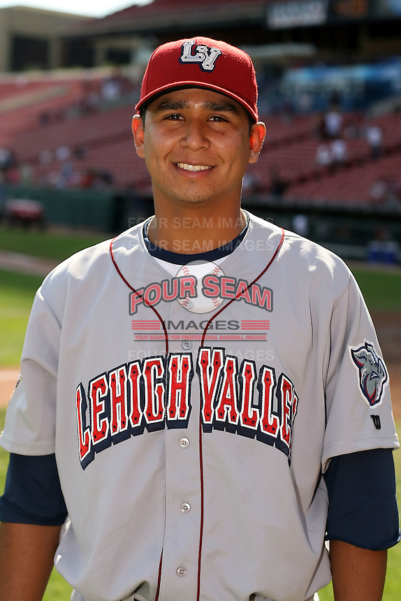 August 22 2008:  Pitcher Carlos Carrasco of the Lehigh Valley IronPigs, Class-AAA affiliate of the Philadelphia Phillies, during a game at Dunn Tire Park in Buffalo, NY.  Photo by:  Mike Janes/Four Seam Images