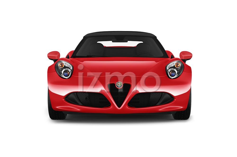 Car photography straight front view of a 2019 Alfa Romeo 4C Spider 2 Door Convertible