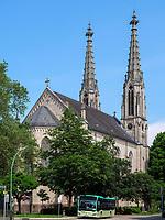 evangelische Stadtkirche, Baden-Baden, Baden-Württemberg, Deutschland, Europa<br /> protestant city-church, Baden-Baden, Baden-Wuerttemberg, Germany, Europe