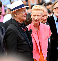 CANNES, FRANCE. July 12, 2021: Bill Murray & Tilda Swinton at the gala premiere of Wes Anderson's The French Despatch at the 74th Festival de Cannes.<br /> Picture: Paul Smith / Featureflash