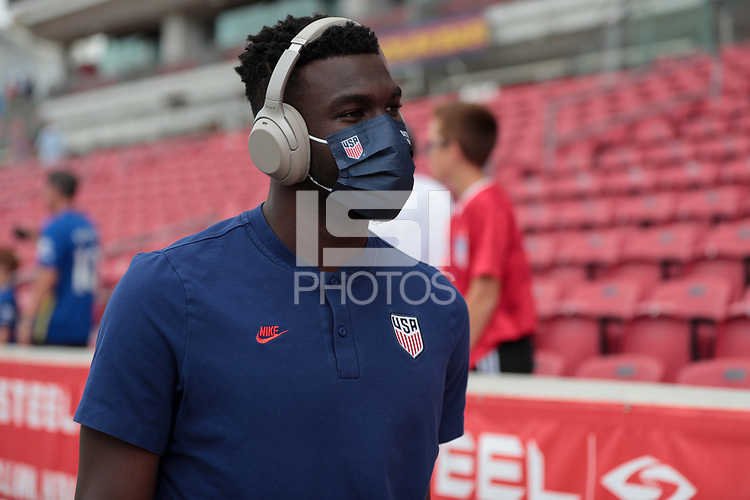 SANDY, UT - JUNE 10: USMNT before a game between Costa Rica and USMNT at Rio Tinto Stadium on June 10, 2021 in Sandy, Utah.